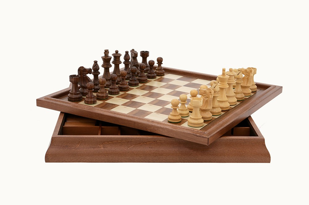 Dal Rossi Italy Chess Set 3 In 1 18""