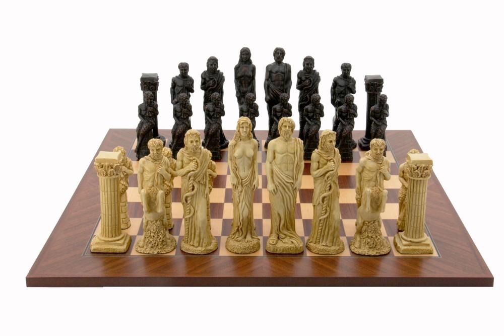 Dal Rossi Italy Gods Of Mythology Chess Set on a 50cm Board