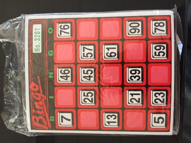 Bingo replacement cards only 30 pack