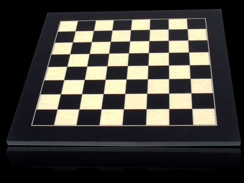 Dal Rossi Chess board, Black / Erable 40cm Chess Board
