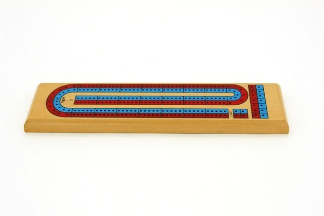 Cribbage board, 2 track Coloured