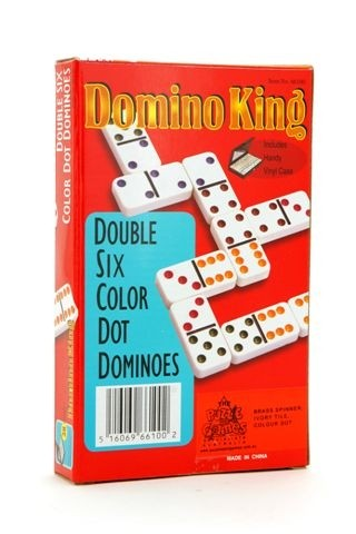 Dominoes - Domino King, double 6, colour dots, spinners