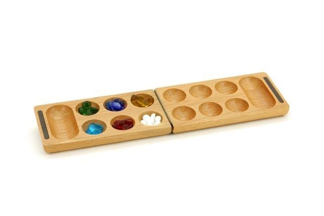 Mankala Games - Mankala/Kalaha wood folding