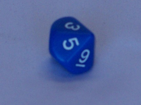 Dice - 10 Sided Dice, Coloured
