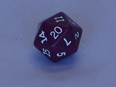 Dice - 20 Sided Dice Coloured