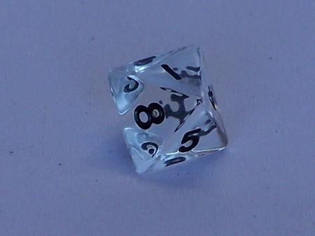 Dice - 8 Side Dice Transparent