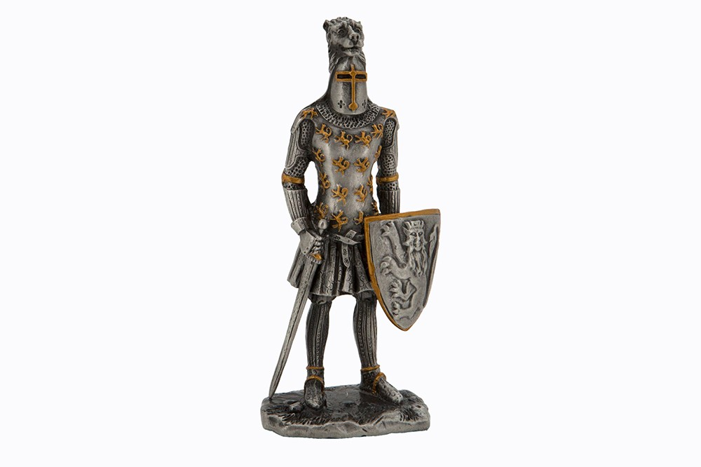 Dal Rossi Pewter MEDIEVAL WARRIOR - WEARING LION MASK Pewter Figurines height from 110mm to 160mm