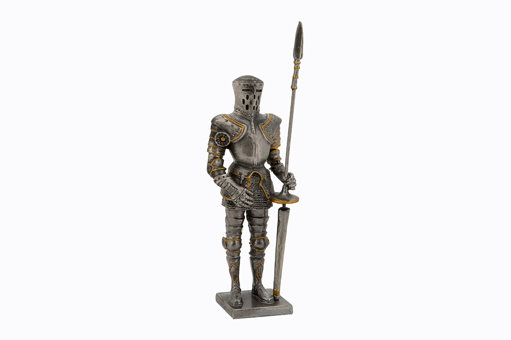 Dal Rossi Pewter MEDIEVAL WARRIOR - PIKE IN LEFT