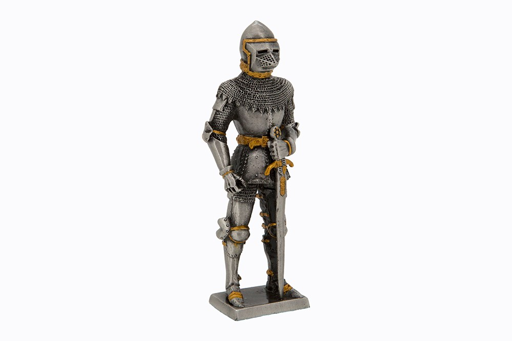 Dal Rossi Pewter MIDDLE ANCIENT WARRIOR - SWORD IN LEFT