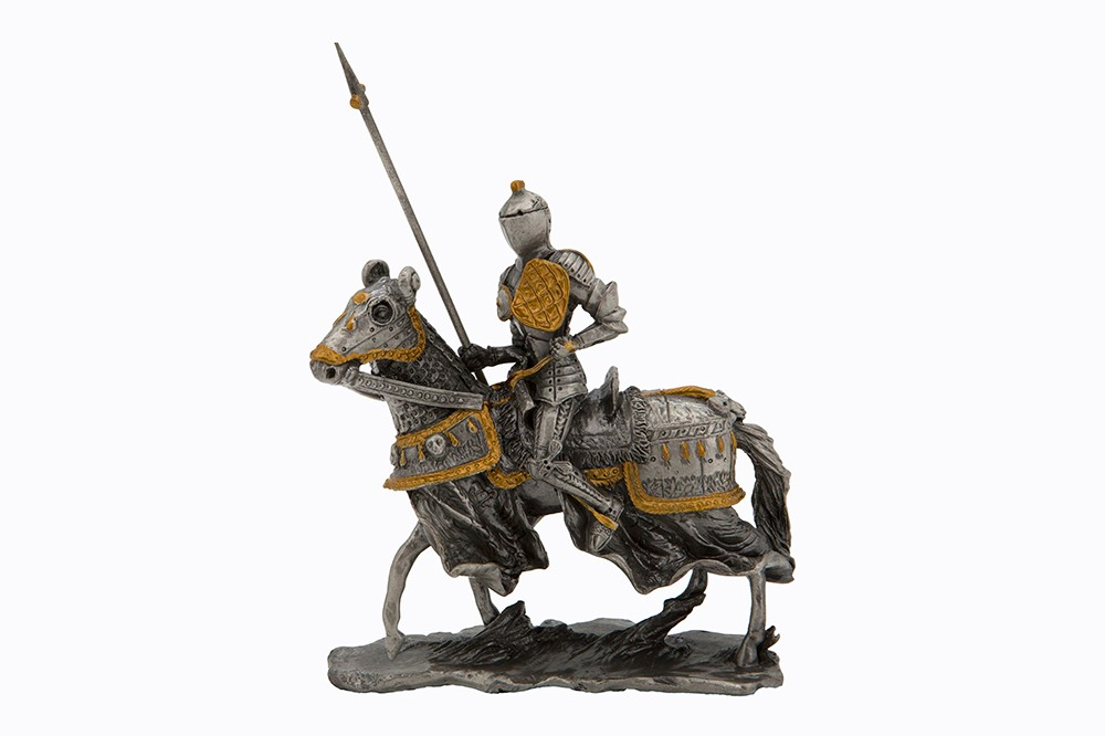 Dal Rossi Pewter KNIGHT HOLDING SPEAR Pewter Figurines height from 110mm to 160mm