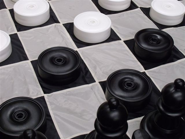 Giant Checkers & Draught Pieces 22cm PIECES ONLY