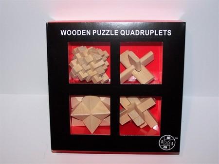 Le Mi Arts Series - Wooden Puzzles Set of 4