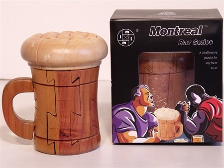 Montreal 3D Puzzles - Beer Mug Puzzle, Wood