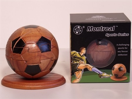 Montreal 3D Puzzles - Soccer Ball Puzzle, Wood