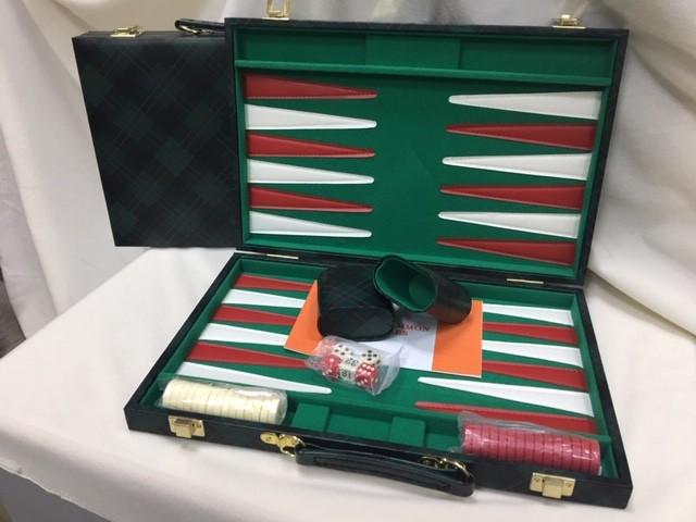 "Backgammon, Green checkered Vinyl 15"" COMING SOON 10 July 2020"