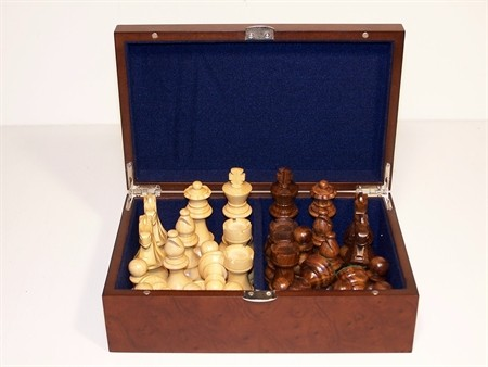 Chess Pieces and Storage Boxes - Dal Rossi Chess Pieces 95mm plus Storage Box weighted Chess Pieces