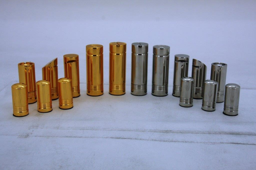 Dal Rossi Italy, Modern Gold and Silver Chessmen 75mm Chessmen ONLY