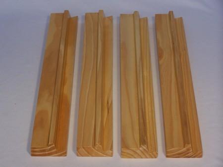Mahjong, wood racks, set of 4