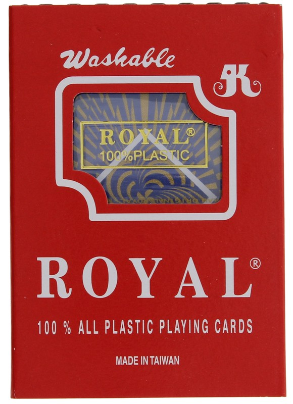Playing Cards - Royal 100% plastic,single pack