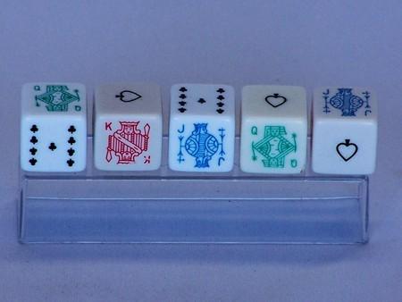 Dice - Poker dice set, plastic pack
