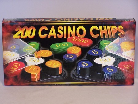 Casino Chips &Accessories - Casino chips, plastic box, numbered, 200pc