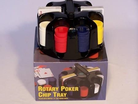 Casino Chips &Accessories - Casino chips, revolving rack, plastic, 200pc