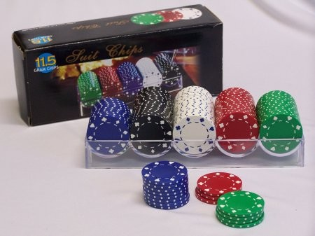 Casino Chips &Accessories - Poker chip100pc Suit Style 11.5gm