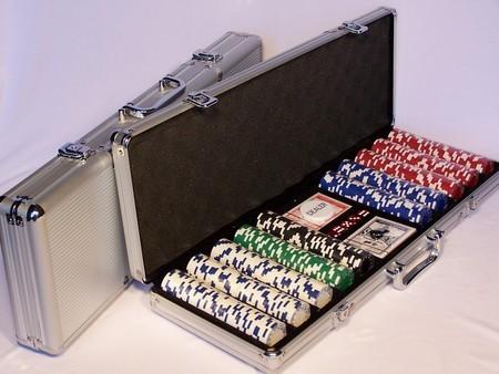 Casino Chips &Accessories - Poker chips 500pc aluminium att case 11.5gm