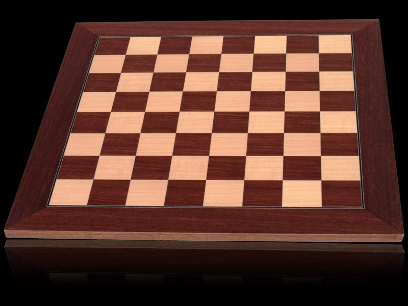 Dal Rossi Chess board, Palisander/Maple, 50cm Chess Board