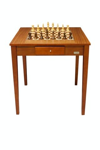 "Dal Rossi Italy Chess Table 28"" Including 95mm Weighted Chess Pieces"