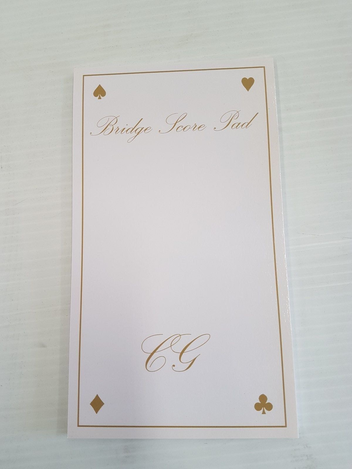 Bridge - Bridge score pad, Australian made, single