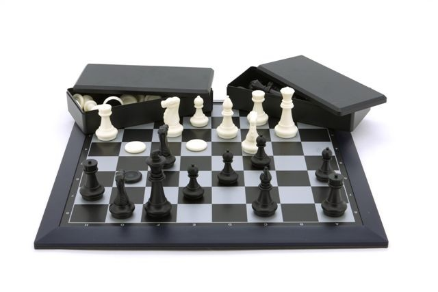 """Magnetic Games - Magnetic Chess/Checkers, Black 16"""""""