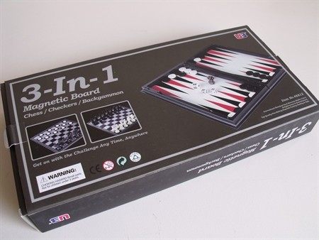 """Magnetic Games - 3 in 1 Magnetic Chess/Checkers 12.5"""""""