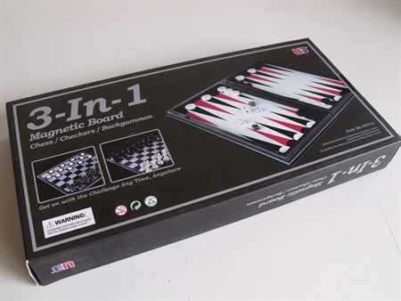 Magnetic Games - 3 in 1 Magnetic Chess/Checkers 14""
