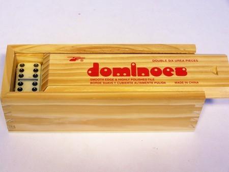 Dominoes - Double six wooden box