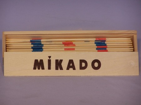 Miscellaneous Games - Mikado, pick up sticks, wood box
