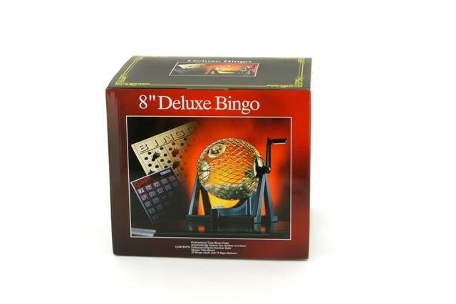 Bingo Sets - Bingo cage deluxe set, metal cage, 75 Balls 8