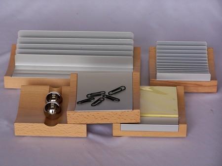 Desk Accessories - Computer desk set, 5 piece, beech