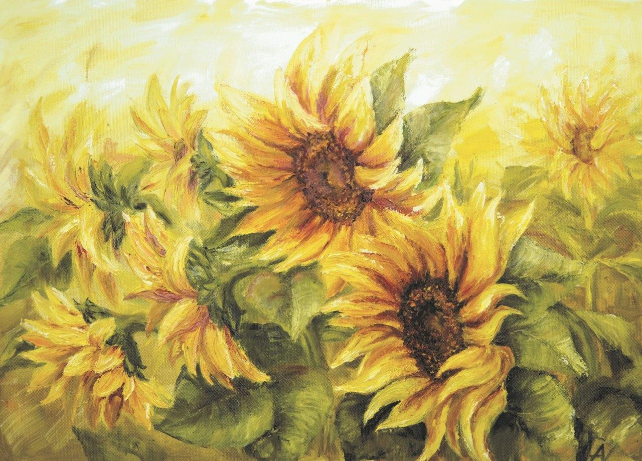 Enigma Brand 1000pc Jigsaw - Sunflowers  (Made From 100% High Quality European Blue Board From Holland)