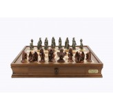 "Dal Rossi Chess Set on a 20"" chess box  Evil Ring Metal Chessmen"