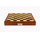 "Dal Rossi Italy Chess Box Walnut Finish Chess Box 16"" with compartments"