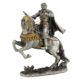 Dal Rossi Pewter Knight Holding Gun All Pewter Figurines height from 110mm to 160mm