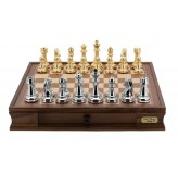 Dal Rossi Italy Gold & Silver Chess Set 20""
