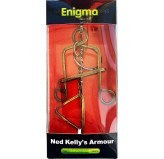Enigma Metal Puzzles - Ned Kelly's Armour on a Metal Stand