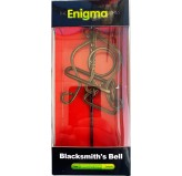 Enigma Metal Puzzles - Blacksmith's Bell , on a Metal Stand