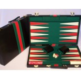 Backgammon, black vinyl case,18
