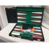 Backgammon, Green checkered Vinyl 15""