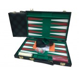 Backgammon, Green checkered Vinyl 18""