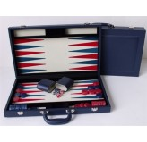 "Dal Rossi Blue Backgammon 15"" PU Leather"