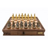 Dal Rossi Italy Medieval Warriors Chess Set with Drawers 20""